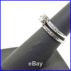Antique Vintage Diamond Engagement Wedding Ring Platinum Set