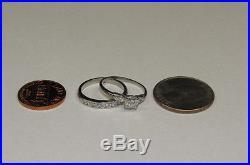 Appraised $3,078.00 Platinum. 93 Cts Diamond (2) Ring Vintage Wedding Set