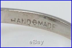 Antique $12K 1940s 7ct Natural INDICOLITE Blue Tourmaline Platinum Wedding Ring