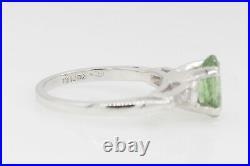 Antique $12,000 2ct Natural Alexandrite Diamond Platinum Wedding Ring Set 8g