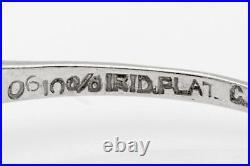 Antique 1920s 1.25ct Old Mine Cut Diamond Trillion Cut Platinum Wedding Ring