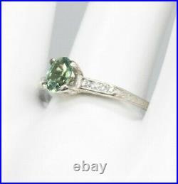 Antique 1920s $5000 1ct Natural Alexandrite Diamond Platinum Wedding Ring
