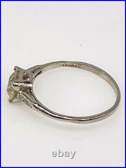 Antique 1920s $6000 1.40ct Old Mine Cut VS I Diamond Platinum Wedding Ring