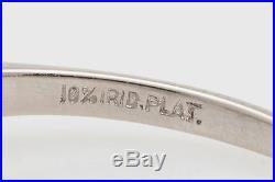 Antique 1930s $30,000 3ct Cushion Cut Diamond Platinum Wedding Ring Set