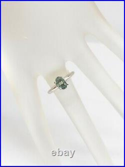 Antique 1930s $4000 1ct Natural Alexandrite Platinum Wedding Ring