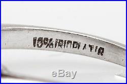 Antique 1940s 1.35ct Natural Emerald Cut Diamond Platinum Wedding Ring
