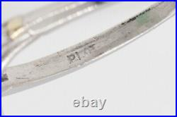 Antique 1940s $20K 12ct Pear Cut Colombian Emerald Diamond Platinum Wedding Ring