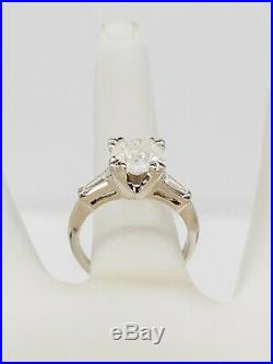 Antique 1940s $20,000 3ct Natural Round Brilliant Diamond Platinum Wedding Ring