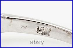 Antique 1940s $20,000 3ct Old Cut Diamond 14k White Gold Wedding Ring