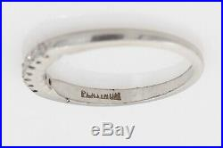 Antique 1940s. 25ct 7 VS H Diamond Platinum Wedding Band Ring