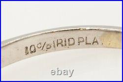 Antique 1940s $4000 3ct Natural Tanzanite Blue Sapphire Platinum Wedding Ring