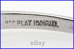 Antique 1940s $4000.75ct Natural Alexandrite Diamond Platinum Wedding Ring