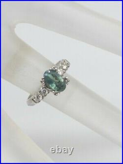 Antique 1940s $5000 1.25ct Natural Alexandrite Diamond Platinum Wedding Ring