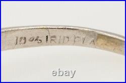 Antique 1940s $5000 2.36ct Natural Blue Sapphire Diamond Platinum Wedding Ring
