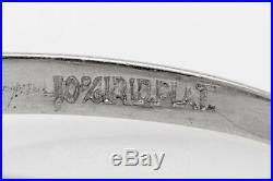 Antique 1940s $5000.75ct Natural Alexandrite Diamond Platinum Wedding Ring
