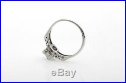 Antique 1940s $6000 1.15ct Natural Alexandrite Diamond Platinum Wedding Ring