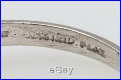 Antique 1940s $6000 1.20ct Natural Alexandrite Diamond Platinum Wedding Ring