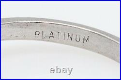 Antique 1940s $6000 1.35ct Natural Alexandrite Diamond Platinum Wedding Ring