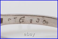 Antique 1940s $6000 1.50ct VS I Emerald Cut Diamond Platinum Wedding Ring