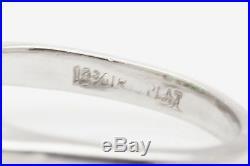 Antique 1940s $7000 5ct Asscher Cut Colombian Emerald Platinum Wedding Ring