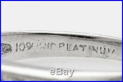 Antique 1940s. 75ct 7 Stone VS G Diamond Platinum Wedding Band Ring