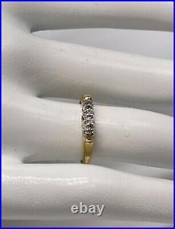 Antique 1940s RETRO Diamond 14k Yellow White Gold Wedding Band Ring