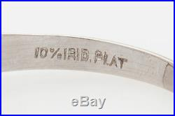 Antique 1950s $10,000 1.50ct Diamond Platinum Wedding Ring MINTY