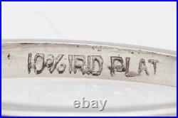 Antique 1950s. 33ct VS G 3 Baguette Diamond Platinum Wedding Band Ring