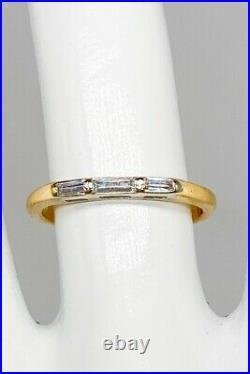 Antique 1950s. 50ct 3 VS G Baguette Diamond 14k Yellow Gold Wedding Band Ring