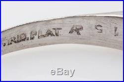 Antique 1950s 5 Stone VS H 1ct Diamond Platinum Wedding Band Ring