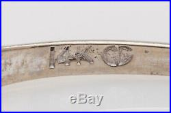 Antique 1950s Signed CG. 33ct Baguette Diamond 14k White Gold Wedding Band Ring