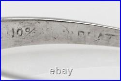 Antique $2000 1940s RETRO. 50ct VS G Diamond Platinum Wedding Band Ring