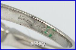 Antique $35,000 12ct Colombian AAA+++ Emerald Diamond Platinum Wedding Ring