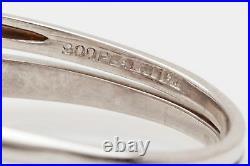Antique $5000 1.50ct Natural Pink Sapphire Diamond Platinum Wedding Ring Set