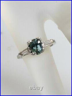 Antique $6000 1.15ct Natural AAA+++ Alexandrite Diamond Platinum Wedding Ring