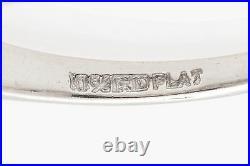 Antique. 75ct VS F Diamond Baguette Platinum Wedding Band Ring