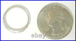 Antique Art Deco Vintage Platinum Women's Wedding Band Ring Size 4.25 UK-H1/2