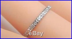 Antique Art Deco Vintage Platinum Women's Wedding Band Ring Size 5.25 UK-K 1.9MM