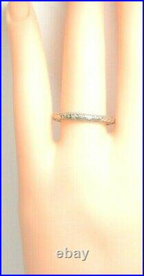 Antique Art Deco Vintage Women's Wedding Band 18K White Gold Ring Sz 7.5 UK-O1/2