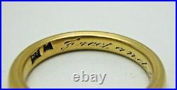 Antique Deco Nouveau 1918 18k Y Gold Wedding Band Ring Sz 7.5 5.3 Grams