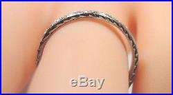 Antique Vintage Art Deco Diamond Wedding Band 18K White Gold Ring Size 6 UK-L1/2