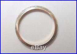 Antique Vintage Art Deco Women's Wedding Band 18k White Gold Ring Size 5 UK-J1/2