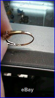 Antique/Vintage Depression Era Women's 14k Yellow Gold Wedding Band Ring sz 5-6