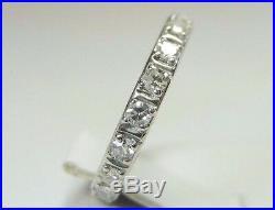 Antique Vintage Diamond Wedding Band Platinum Ring Size 4.25 UK-H1/2 EGL USA
