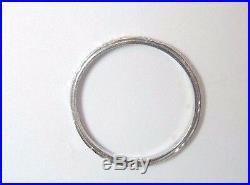 Antique Vintage Diamond Wedding Eternity Band Platinum Ring SZ 5.75 UK-L EGL USA