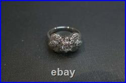 Antique Vintage Engagement & Wedding Ring 2 Ct Round Diamond 14K White Gold Over