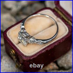 Antique Vintage Engagement Wedding Ring Fine 2.11 CT VVS1 Diamond 14K White Gold