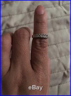 Antique Vintage Estate 14k White Gold Diamond Wedding Ring. 20 Carat 4.5