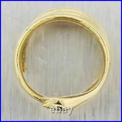 Antique Vintage Estate 18k Yellow Gold Over Cocktail Diamond Snake Ring