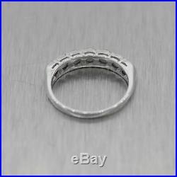 Antique Vintage Estate Platinum 0.50ctw Diamond Wedding Band Ring